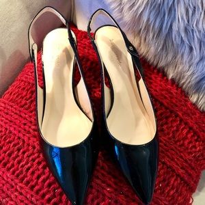 "Kate Spade ""Ocean"" black patent leather pumps"